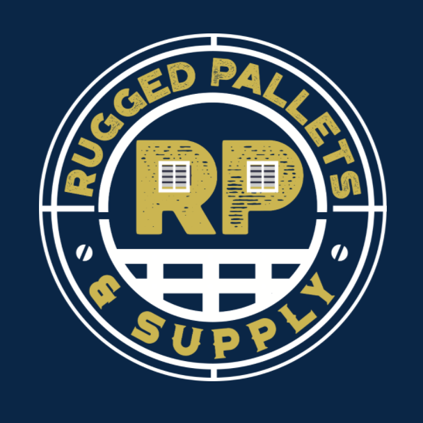 a logo of rugged pallets