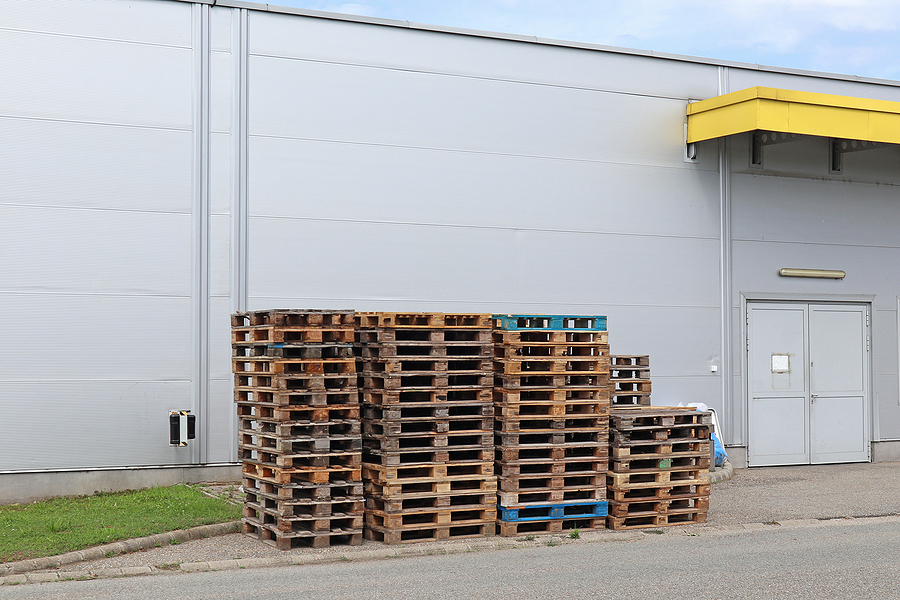 pallets next to the warehouse building b
